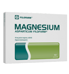 Magnesium asparticum 600 mg - 50 tabletek