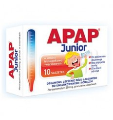 Apap junior 250 mg - 10 saszetek