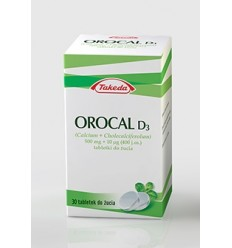Orocal d3 500 mg+10 mcg - 30 tabletek do żucia