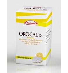 Orocal d3 lemon - 30 tabletek do żucia