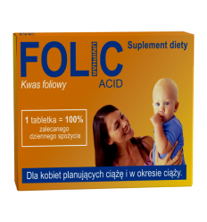 Folic acid - 30 tabletek