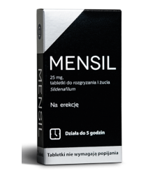 Mensil 25 mg - 2 tabletki do żucia